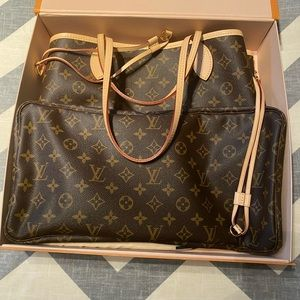 Louis Vuitton Neverfull without the pouch